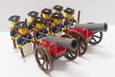 Napoleonic Wars Minifigure 8 x Blue Coat Navy Soldier w 2 Cannon Custom Brand
