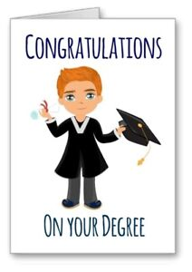 Congratulations On Your Degree Graduation Card Ginger Red Hair All Cards 3 for 2