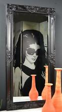 WOW Wandspiegel Spiegel barock antik schwarz 100 X 50 Cm