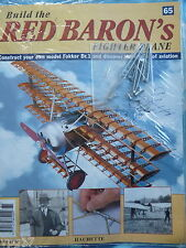 BUILD THE RED BARON'S FIGHTER PLANE FOKKER DR1  HACHETTE  ISSUE 65  NEW SEALED
