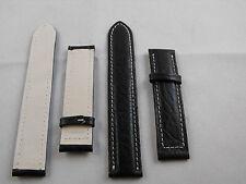 01- bracelet en véritable cuir 18 mm optimale qualité deployant breitling style