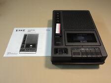 Eiki Precision Cassette Tape Player Portable Black 120VAC 60Hz 10W 9VDC 3270A