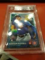 2015 Topps Update Rainbow Foil Addison Russell Rookie Card #US220 BGS 9 Mint