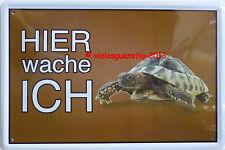 Blechschild 20x30 cm Schild Hier wache ich Schildkröte Haustier