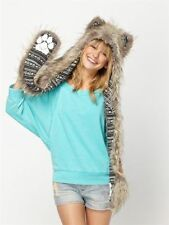 Foxy Roxy Faux Fur SpiritHood Hooded Scarf Spirit Hood Fairisle Sweater Lining