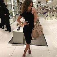 Womens Bodycon Bandage Midi Dress Ladies Slim Evening Party Formal Lace Clubwear