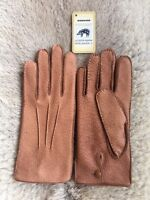 Peccary Leather Gloves for men's with hand sewn and unlined in all colors Winter