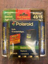Polaroid Cartucho de tinta 45/15 tinta negra alta capacidad negro HP 51645A C6615 13453