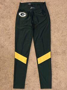 Women's Majestic Zubaz Green Bay Packers Stretch Leggings Pants Size L