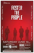 "FOSTER THE PEOPLE ""2017 SUMMER TOUR"" NEW YORK CONCERT POSTER - Indie Pop Music"
