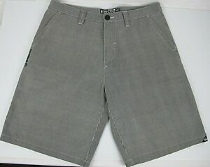 Quiksilver Casual Shorts Black & White thin stripe Men's Fit Size 34