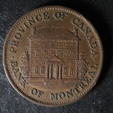 PC-1A2 Halfpenny 1842 token Province of du Canada Montreal Quebec Breton 527