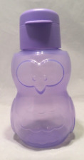 Tupperware Owl Water Bottle 12-oz Flip Top Liquid Tight for Kids Purple NEW