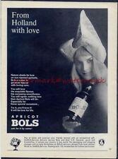 APRICOT BOLS LIQUEUR - Vintage Original (NOT Repro!) ADVERTISEMENT. Free UK Post