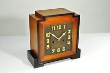 "Superb 1930`Art Deco "" Amsterdamse School "" Mantel Clock , Palisander"