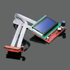 LCD 12864 Display Smart Controller Board Panel with Adapter for 3D Printer RAMPS
