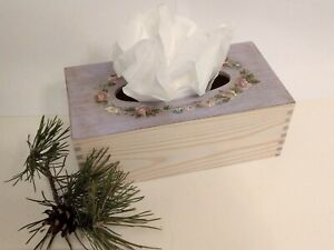 Wooden Kleenex Box cover | Hand-painted Wooden Box | Tissue Holder | Kleenex box