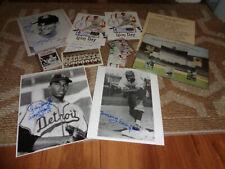 Large Negro League Signed Autograph Photo Card Lot Eagles Yankees Baseball Auto
