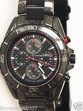 $695 Michael Kors MK8455 Chronograph JetMaster Carbon Fiber Stainles Steel Watch