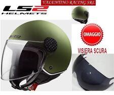 CASCO JET LS2 OF558 SPHERE LUX MATT MILITARY GREEN MIS L 58 Cm VISIERA OMAGGIO