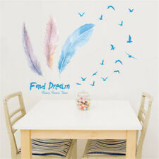 Birds Feathers Dream Room Home Decor Removable Wall Sticker Decal Decoration