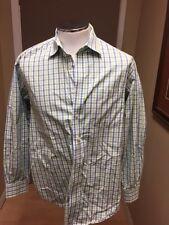 VINEYARD VINES Tucker Shirt green blue Plaid Long Sleeves Button Down LARGE-23a