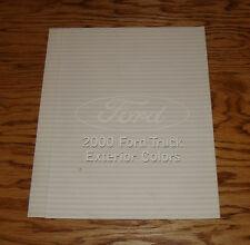 2000 Ford Truck Exterior Colors Sales Brochure 00 Pickup F-Series