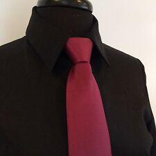 "Men's Merlot Red Wedding Formal Prom Ballroom Competition 20"" Zipper Tie"