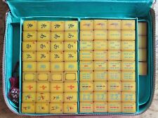 Vtg, Catalin, Apple Juice, Resin, 148 Hand Carved Tiles, Mahjong Set Mah Jongg
