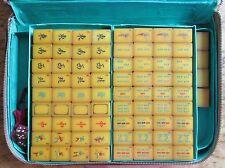 Vtg Catalin, Apple Juice, Resin, 148 Hand Carved Tiles, Mahjong Set, Mah Jongg