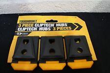 Cliptech Hubs, noir (3 pièces) par ToughBuilt ref 6