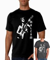Camiseta hombre MALCOM YOUNG AC/DC men T shirt hard rock heavy acdc