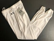 WAS $59.99 NWT UNDER ARMOUR GK WHITE GYMNASTICS COMPETITION STIRRUP PANTS CXL
