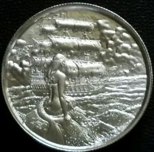 ELEMETAL SIREN 2 OZ .999 SILVER HIGH RELIEF ROUND RARE COLLECTABLE COIN MERMAID