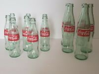 Lot of Empty 8oz and 12oz Glass Coca Cola Coke Bottles Art Crafts Gardening red