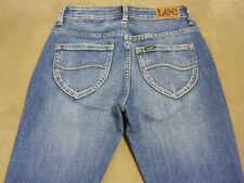 045 WOMENS NWT LEE MID RISE TUBE BOULEVARD BLUE STRETCH JEANS 8 $160.