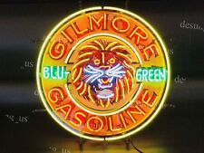 "New Gilmore Gasoline Blu Green Gas Light Neon Sign 24"" with HD Vivid Printing"