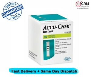 Accu-Chek Instant 50 Test Strips FREE POST
