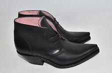 New! Sendra 'Martha' Black Leather Chukka Boot Bootie Size 7
