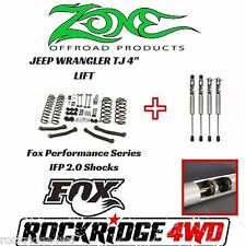 "Zone Offroad 4"" Jeep Wrangler TJ LJ 97-02 Suspension Lift Kit W/ Fox Performance"