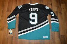 Vintage VTG New Mens Medium Anaheim Mighty Ducks Paul Kariya Hockey Jersey Black