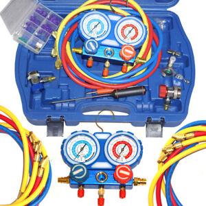 Air Conditioning Manifold Gauge Set R22 R134a R410a Refrigeration Charging