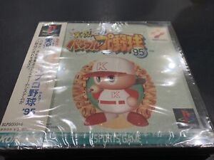 PS1 JIKKYO PAWAFURU PRO BASEBALL '95 Sealed! Playstation Japan Import ps1 Cib