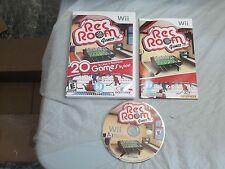 Rec Room Games (Nintendo Wii, 2009) complete