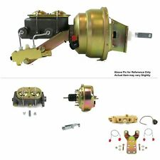 """1968-74 Chevy Nova FW Mount Power 7"""" Single Brake Booster Kit Disc/Drum Protour"""