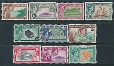 1940-1951 PITCAIRN ISLAND DEFINITIVES SET OF 10 FINE MINT MNH