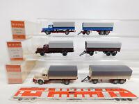 CN332-0,5# 3x Wiking H0/1:87 Hängerzug Krupp Titan: 24480 + 480, sehr gut+OVP