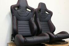 2 x Crank GT1 series, Red stitching Lumbar Support.  ADR Approved