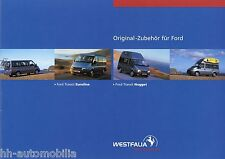 Prospekt Westfalia accesorios para Ford Transit EUROLINE Nugget 1.12.2002 viaje móvil