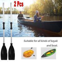 2Pcs Afloat Oars Telescopic Handle Detachable Kayak Paddle Boat Rafting Canoe US